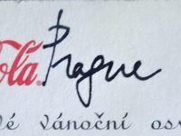 Coca Cola-Carte postale publicitaire-Bons Voeux-Prague-1996-verso-timbre-Cl. Elisabeth Poulain