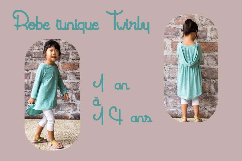 Patron couture gratuit robe tunique pour bébé et enfant