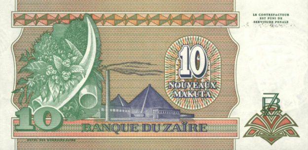 Billets de banque sous le règne de Mobutu