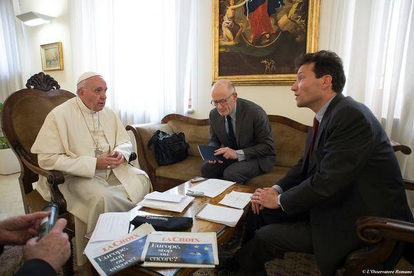Interview du Pape François par le quotidien La Croix