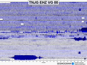 Anak Krakatau - seismograms of 30 and 31.03.2019 - Doc. Magma Indonesia - one click to enlarge