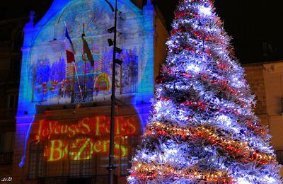 Ambiance de fête de Noël à Béziers (décembre 2019)