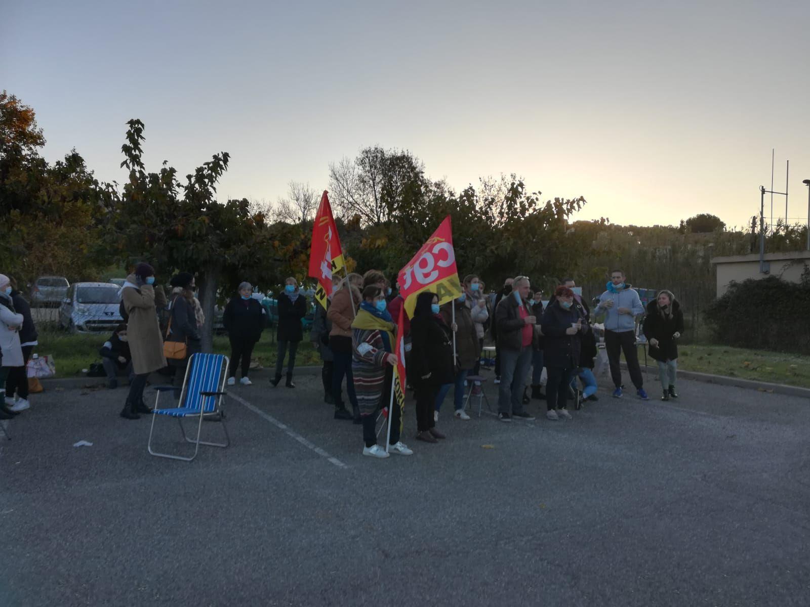 Korian Les Acides St Chamas: 100% de grévistes !
