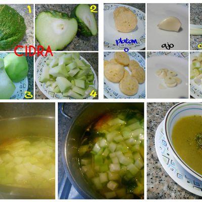 Crema de verduras con Cidra
