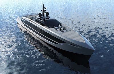 Tankoa presents the new 53m planing yacht S533 Saetta