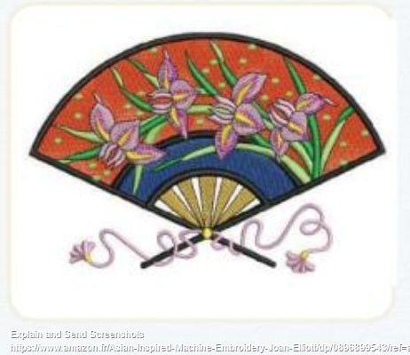 Broderie asiatique sur satin: modèle, fournitures, préparation