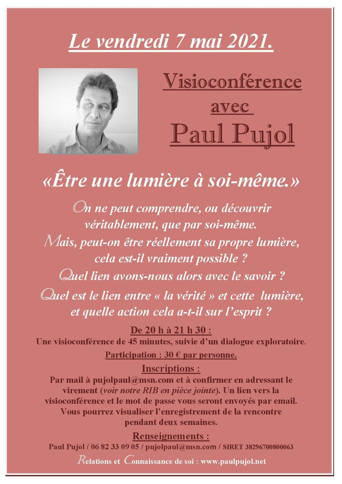 7 mai 2021: Visioconférence de Paul Pujol