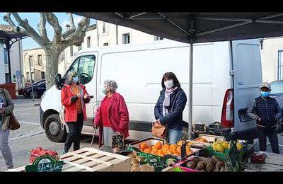 Agréable surprise sur le petit marché de Lansargues ce jeudi matin