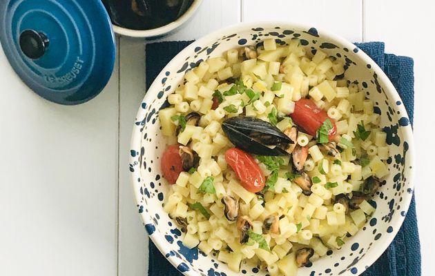 Zuppa di Tubettini con Patate e Cozze