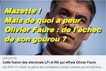 Mais pourquoi Olivier Faure du PS a t-il peur, en 2022, d'une baisse du FN/RN ?