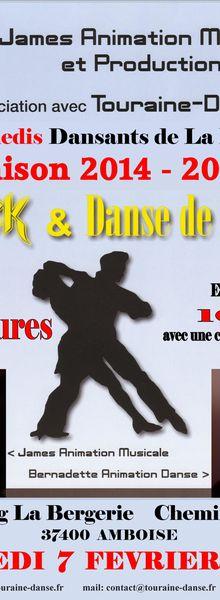 Samedi 7 Février 2015. James et Touraine Danse au Dancing La Bergerie à Amboise.