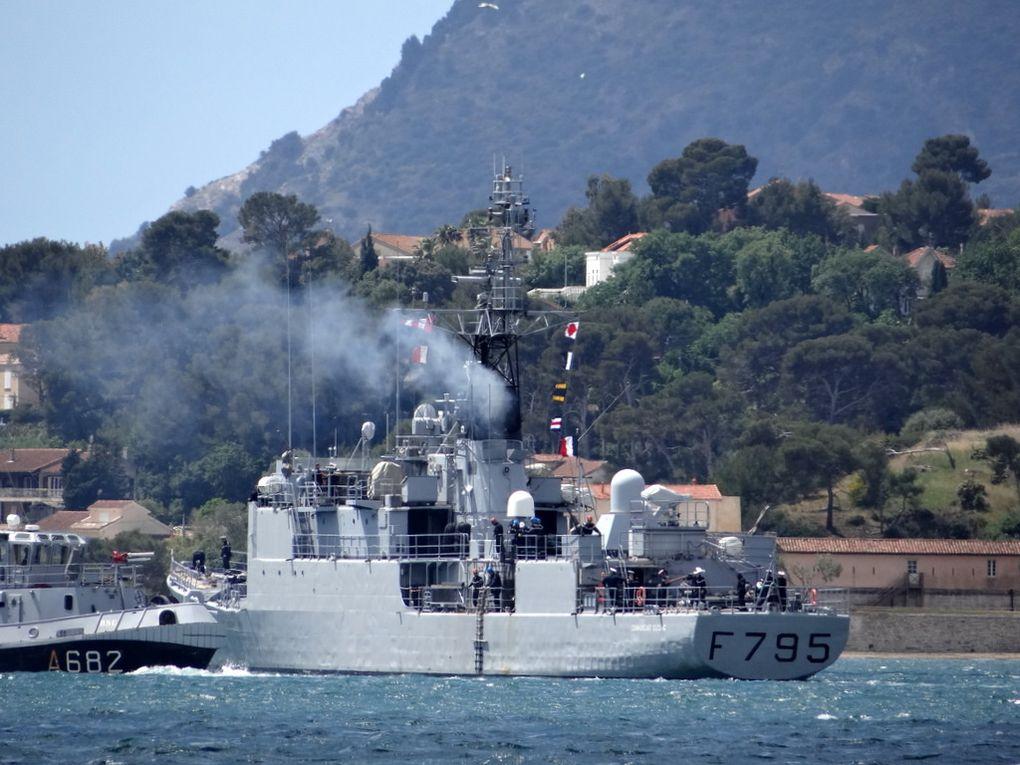 COMMANDANT  DUCING  F795, Patrouilleur de haute mer  , appareillant de Toulon le 12 mai 2016