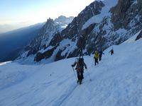 ski entre le petit et le Grand plateau, Mont Blanc
