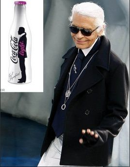Karl Lagerfeld repense la bouteille de Coca Light