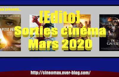 [Edito] Sorties cinéma du mois de Mars 2020