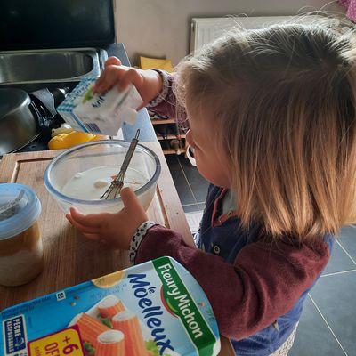 La tarte au surimi cuisinée par Lise, 31 mois