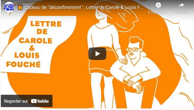 """Cadeau de """" #déconfinement"""" : Lettre de Carole & Louis #Fouché 🎁"""