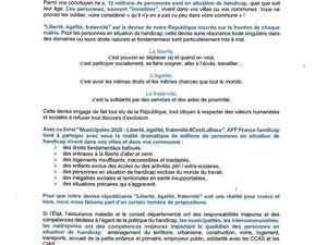 Propositions des Paralysés et Handicapés de France pour les municipales à Algrange