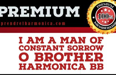 I Am a Man Of Constant Sorrow | O Brother - Harmonica Bb