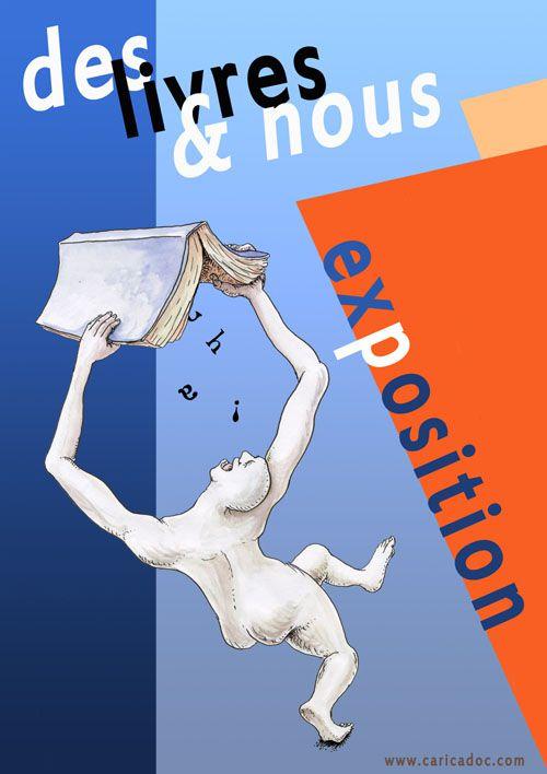 Des livres et nous : exposition itinérante de dessins