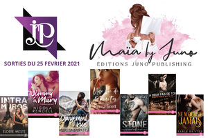 Parutions Juno Publishing du 25 mars 2021 (MF)