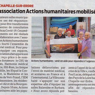ACTIONS HUMANITAIRES mise à l'honneur