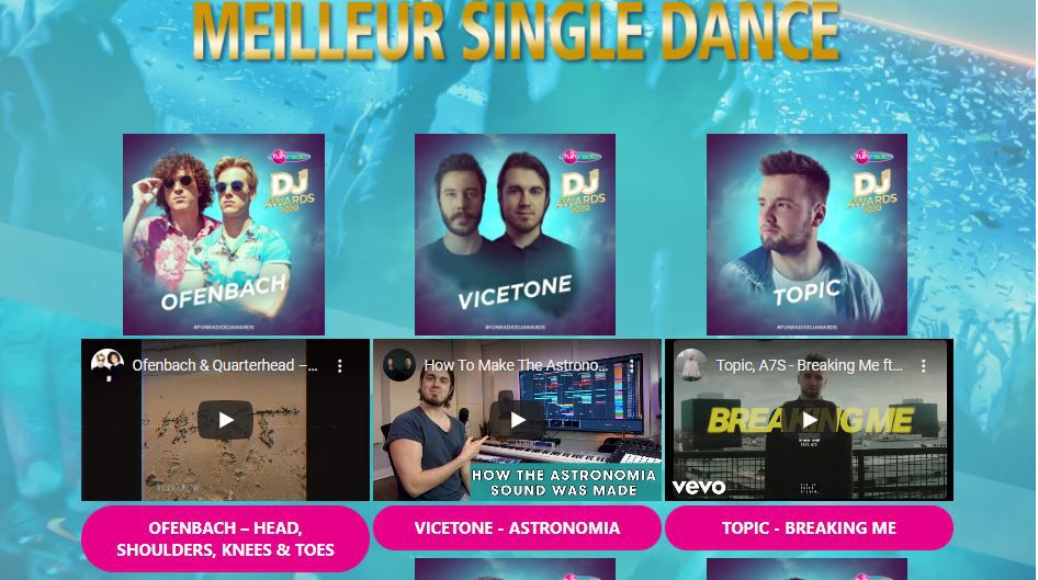 fun radio dj awards 2020, best single dance