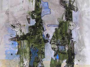 Peintures et collages d'Elisabeth Lesage 2008/2009