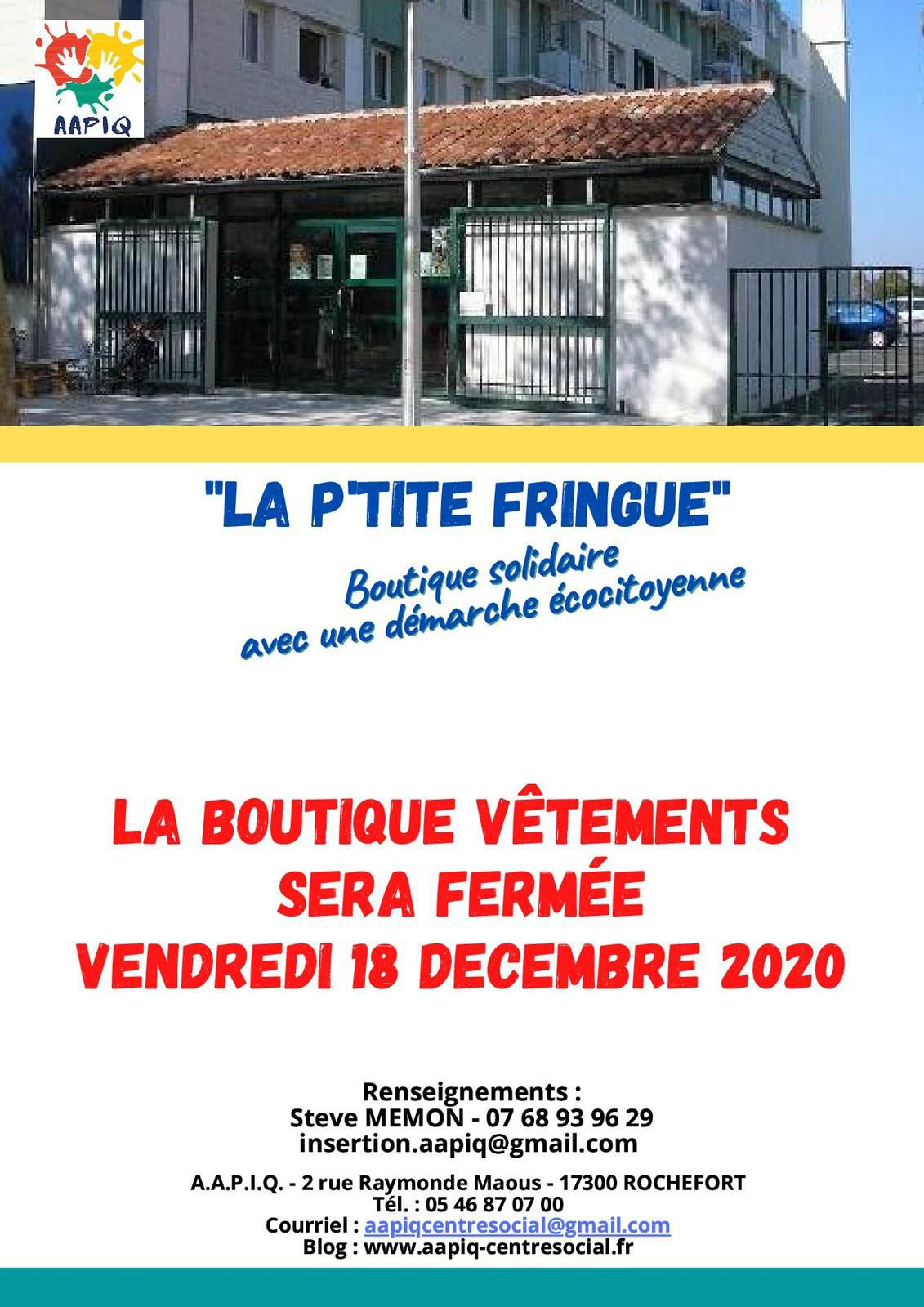 "BOUTIQUE VÊTEMENTS ""La P'tite Fringue"""