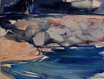 Aquarelles Marine du côté de Hyères