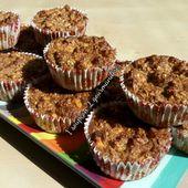 Muffins aux Flocons d'Avoine, Pommes & Noix - 1 Soupçon 2 Gourmandises