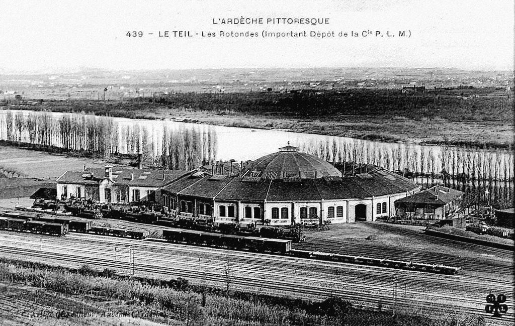 Le-Teil l'ancien dépôt des locomotives (1)