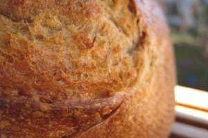Mon pain au levain liquide, à la farine de Kamut, à la farine  complète et au lait fermenté !