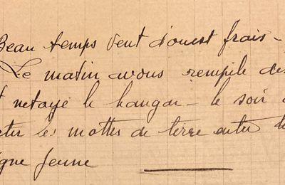 Mercredi 9 mai 1951 - rempiler les balles de paille