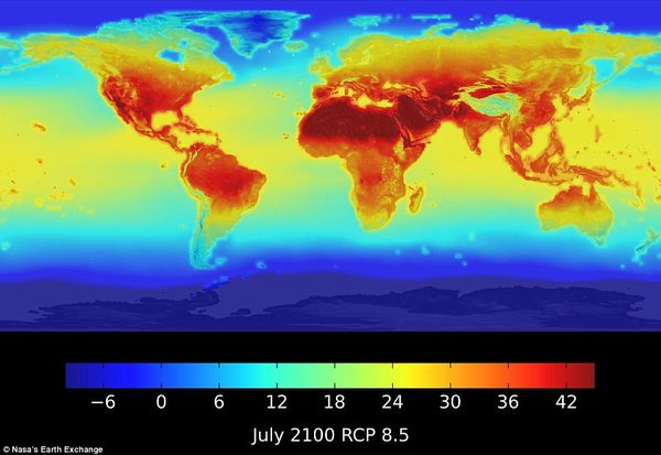 Global temperature projection for 2100. NASA
