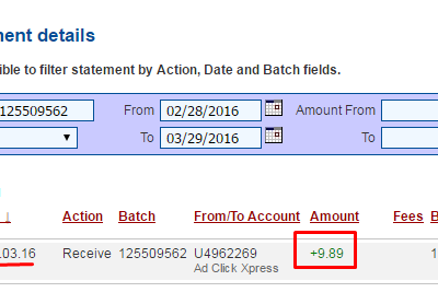 Payment proof from ACX