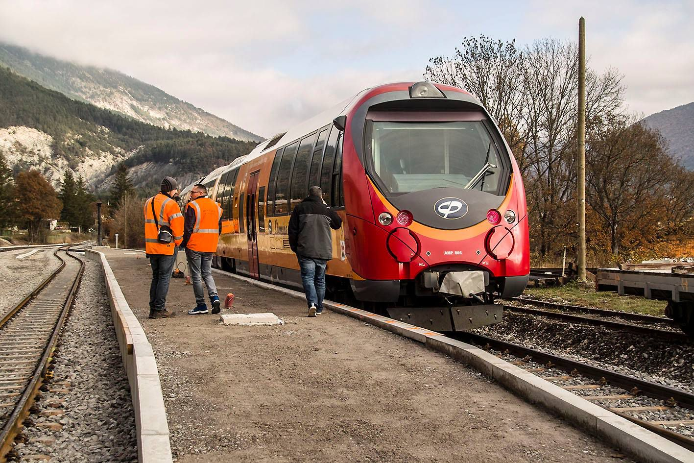 Saint André les Alpes :  Le train de Nice reprend du service