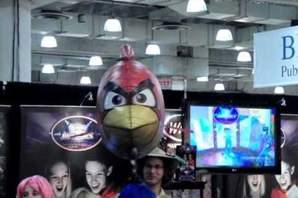Angry Birds Are Real! Red Bird Takes Flight at 2012 Toy Fair in New York