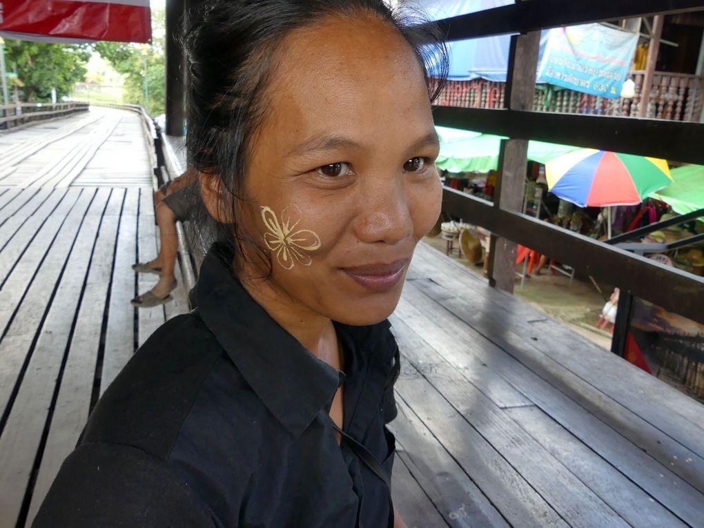 Belles grace au Thanaka - Visages de Thaïlande (20-25)