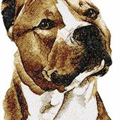 American Staffordshire terrier photo stitch free embroidery design 2