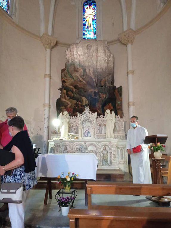 Chemin de Croix hier après midi au calvaire de Betharram suivi, de la Célébration Eucharistique présidée par le Père Landry a la chapelle de la Résurrection, suite des images.