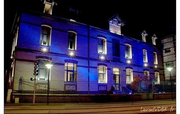 Sotteville la nuit (6) : L'école de musique et la rue Léon Blum