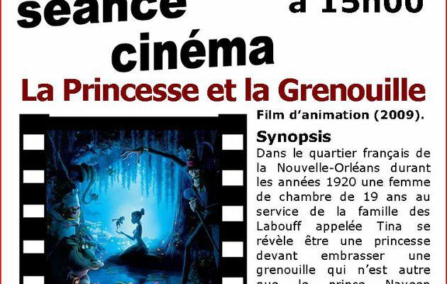 La Princesse et la Grenouille - séance cinéma - Jeudi 22 avril - 15h00
