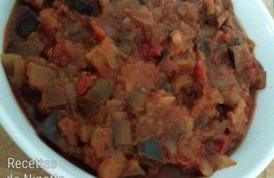 Fondue d'aubergines à la tomate avec ou sans Cookéo