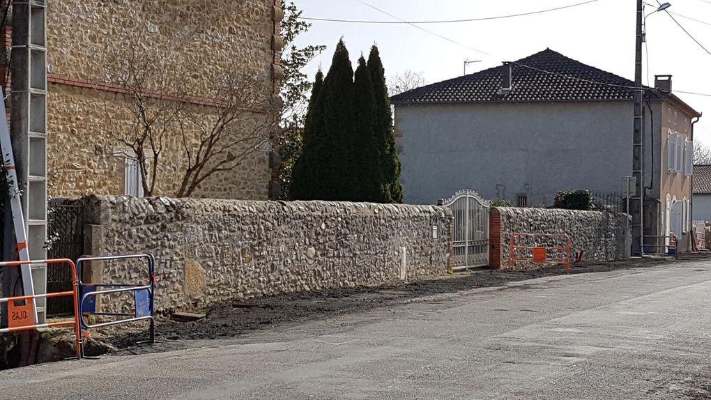 Cassagne - les travaux en cours rue de la mairie (2)