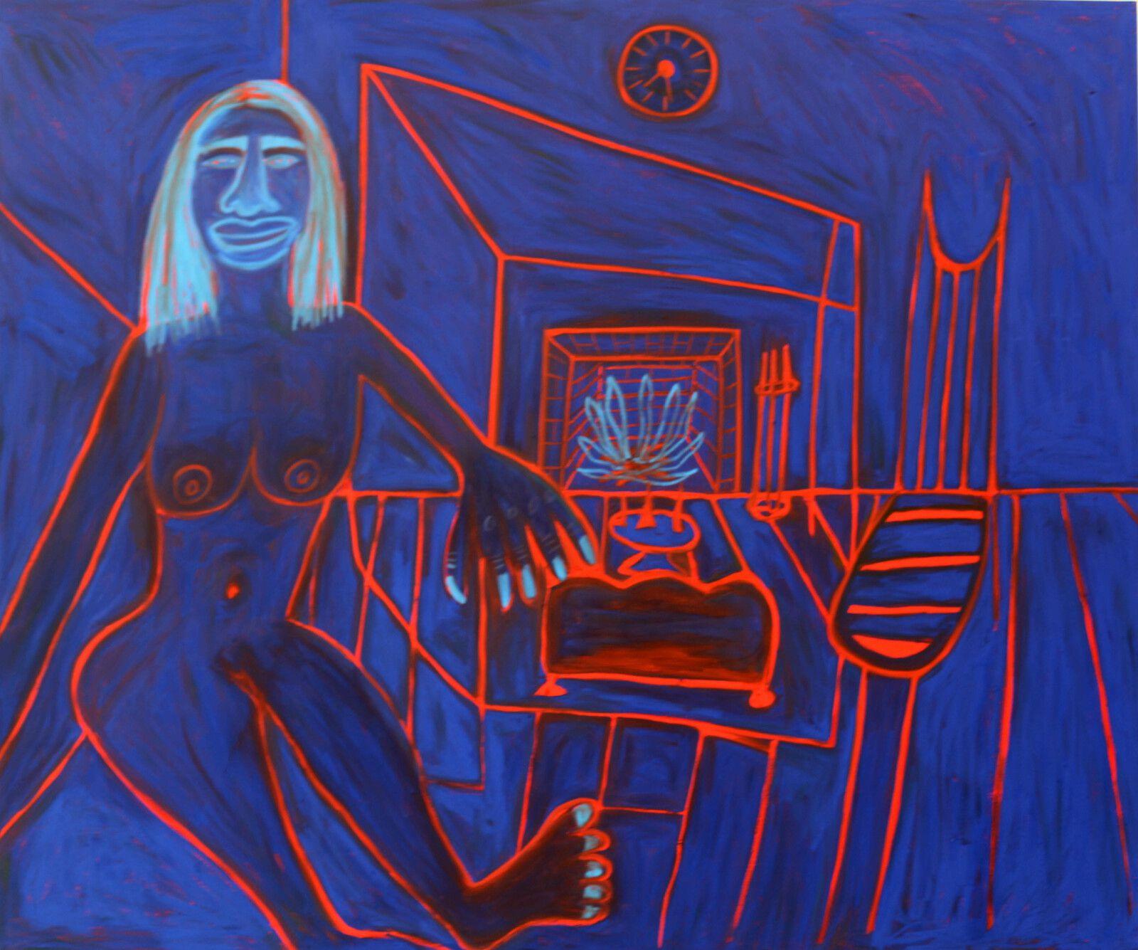 """Blue Blood"""", 2021 de Marcus JAHMAL - Courtesy de l'artiste et de la galerie Almine Rech © Photo Éric Simon"""
