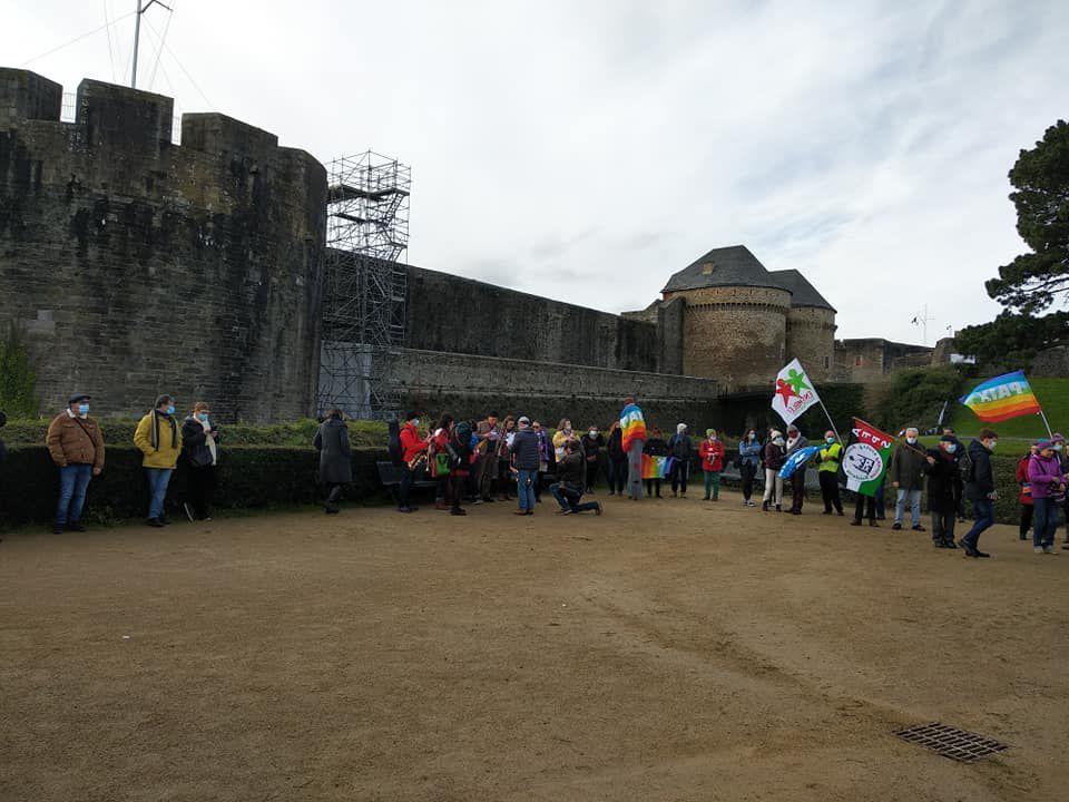 Brest, 23 janvier 2021 - Mobilisation pour la ratification française du Traité international interdisant les armes nucléaires après l'entrée en vigueur du TIAN voté par 122 pays