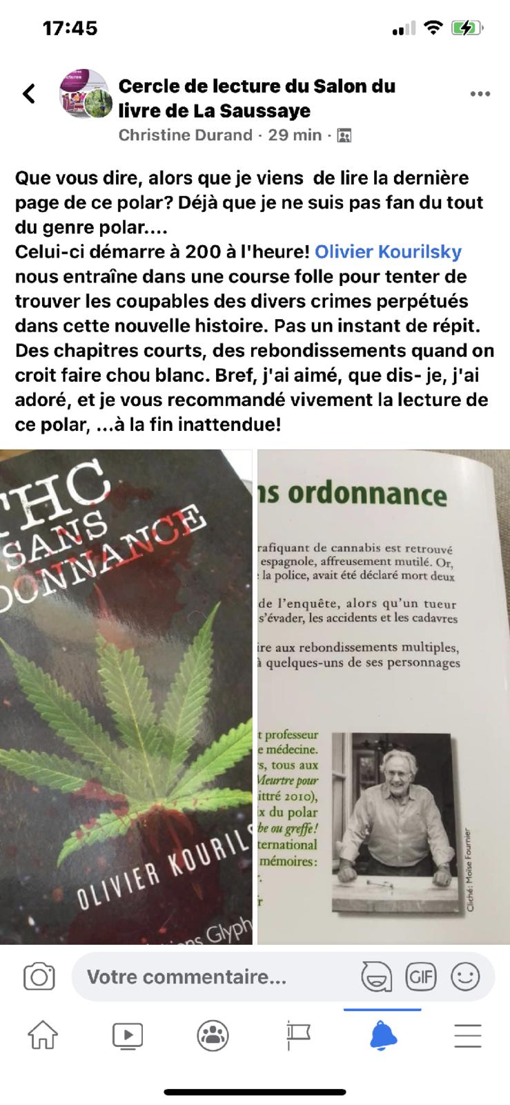 Une belle chronique de THC sans ordonnance !