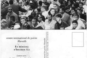 Lecture en mémoire d'Ibrahim Ali. 1998.