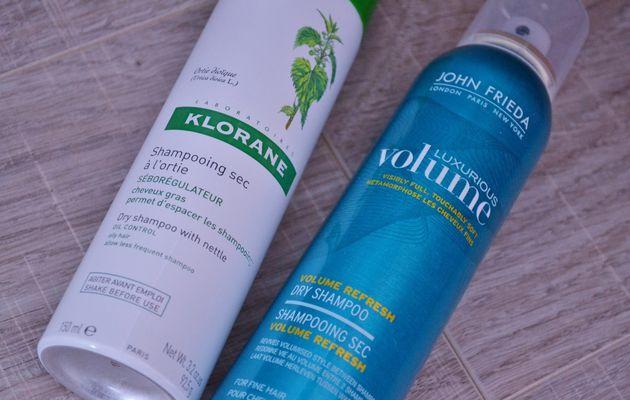 ...les shampoings secs: John Frieda vs Klorane